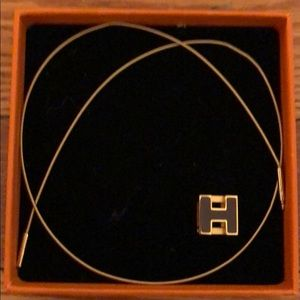 Hermès H black Necklace